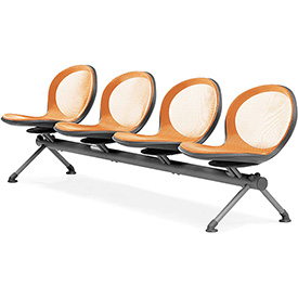 NET Series Beam with 4 Seats - Orange