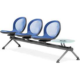 NET Series Beam with 3 Seats and 1 Table - Marine