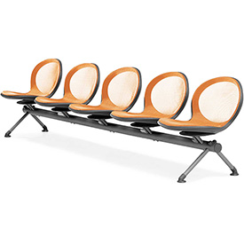 NET Series Beam with 5 Seats - Orange