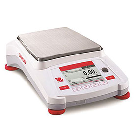 "Ohaus AX5202 Adventurer Precision Balance With Auto Calibration 5200g x 0.01g 7-11/16"" x 6-7/8"" by"
