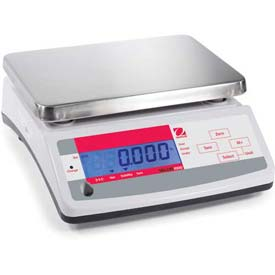 "Ohaus V11P15 AM Compact Bench/Food Digital Scale 33lb x 0.01lb 9-7/8"" x 7-1/8""... by"