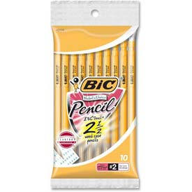 Bic Student's Choice Mechanical Pencil, 0.9mm, Yellow Barrels, 10/Pack by