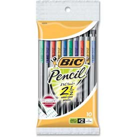 Bic Mechanical Pencil, 0.7mm, Assorted Barrels, 10/Pack by