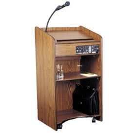 Floor Sound Podium / Lectern - Medium Oak