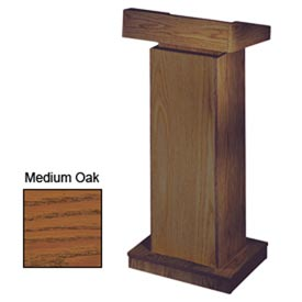 The Orator Height Adjusting Podium / Lectern without Sound - Medium Oak