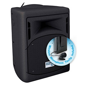 Buy Oklahoma Sound 40 Watt Wireless PA System with Tie-Clip/Lavalier Mic