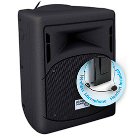 Buy Oklahoma Sound 40 Watt Wireless PA System with Headset Mic