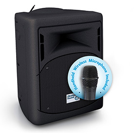 "Buy Pro Audio Public Address System with Wireless Mic, 40-Watt, 11""W X 11""D X 17""H"