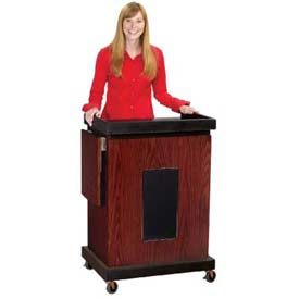 Smart Cart Podium / Lectern with Sound - Mahogany