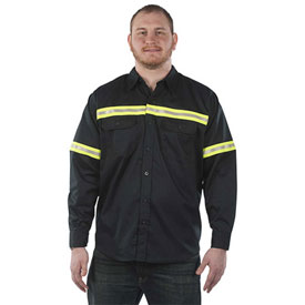 Utility Pro™ Enhanced Visibility L/S Twill Shirt, M, Navy
