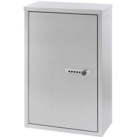 "Omnimed® SS Narcotic Cabinet w/Combo Lock, Double Door, Ambi-Top, 4 Adj.Shelves, 16""Wx8""Dx24""H"