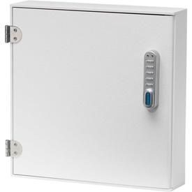 "Omnimed® Large Patient E-Lock Security Wall Cabinet, 1 Fixed Shelf, 16""W x 4""D x 16-1/4""H"