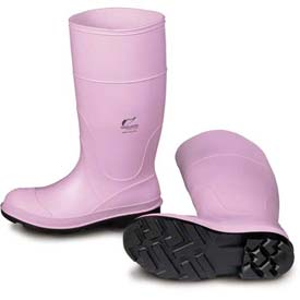 "Onguard Lady Monarch Boot, 14"" Pink Plain Toe, PVC, Size 9"