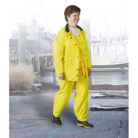 Onguard Polytex Yellow Jacket W/Hood Snaps, Nylon on Polyurethane, 2XL