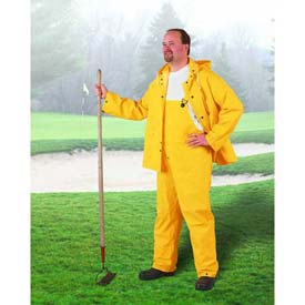 "Onguard Sitex 48"" Yellow Coat W/Detachable Hood, PVC, XL"