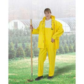 "Onguard Tuftex 48"" Yellow Coat W/Hood Snaps, PVC, 3XL"
