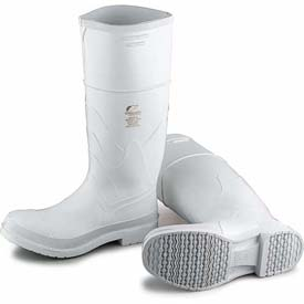 """Onguard Men's Boot, 16"""" White Steel Toe W/Safety Lock, PVC, Size 8"""