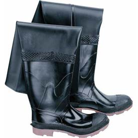 Onguard Men's, Storm King/Hip Wader Black Steel Toe/Steel Mid-sole, PVC, Size 10