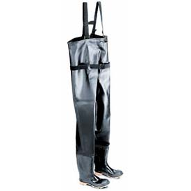 "Onguard Men's, 35"" Chest Wader Black Steel Toe/Steel Midsole, PVC, Size 10"