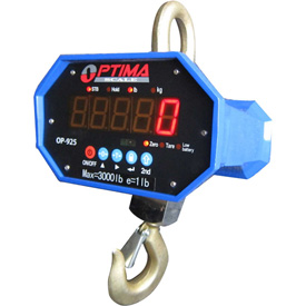 Optima Heavy-Duty LED Digital Crane Scale With Remote 40,000lb x 20lb  by
