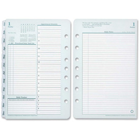 "Cross Franklin Covey Classic Planner Refill 8-9/16"" x 5-7/8"" x 1-13/16"" Green, White by"