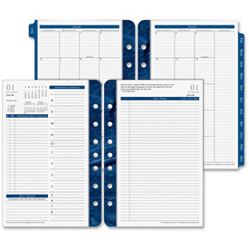 "Cross Franklin Covey Classic Monticello Planner Refill 1-13/16"" x 6"" x 8-1/2"" Blue by"