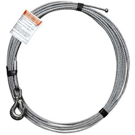 "OZ Lifting OZGAL.25-55B 1/4"" Galvanized Cable Assembly for COMPOZITE Davit Crane by"