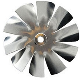 "Packard 10 Blade Small Aluminum Blade - 3/16"" Bore 4 1/2"" Diameter"