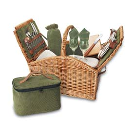 Picnic Time Somerset Willow Picnic Basket by