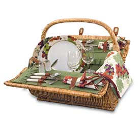 Picnic Time Barrel Willow Picnic Basket by