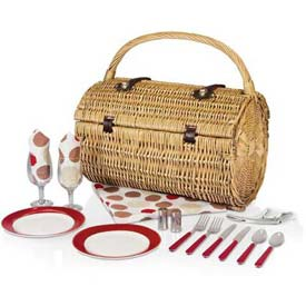 Picnic Time Barrel Moka Willow Picnic Basket by