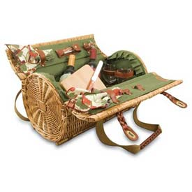 Picnic Time Verona Willow Picnic Basket by