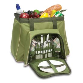 Click here to buy Picnic Time Toluca Picnic Cooler Tote, Pine Green.