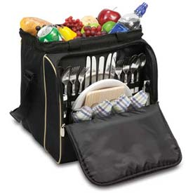 Picnic Time Verdugo Picnic Cooler Tote, Black by