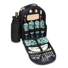 Picnic Time Sorrento Picnic Backpack, Black