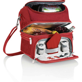 Picnic Time Pranzo Personal Cooler Tote Red by