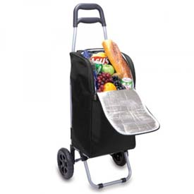 Click here to buy Picnic Time Cart Cooler On Wheels, Black.