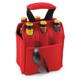 Picnic Time Six Pack Cooler Tote, Red by