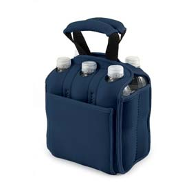 Picnic Time Six Pack Cooler Tote, Navy by