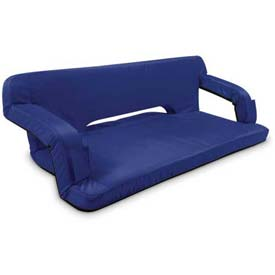 """Picnic Time Reflex Travel Couch 628-00-138-000-0, 43.5""""W X 28""""D X 3""""H, Navy"""