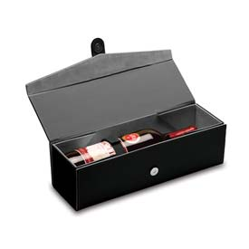 Picnic Time Bardolino Single-Bottle Wine Box Black