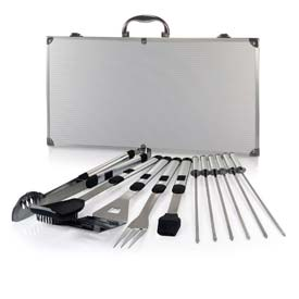 Picnic Time Mirage Pro Stainless Steel Barbecue Tool Set by