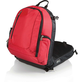 Click here to buy Picnic Time Navigator Stadium Seat & Cooler Backpack Red/Black.