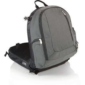 Click here to buy Picnic Time Navigator Stadium Seat & Cooler Backpack Gray/Black.