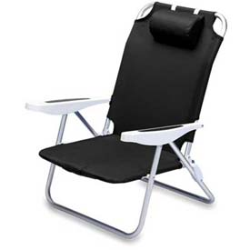 "Picnic Time Monaco Beach Chair 790-00-179-000-0, 25""W X 23""D X 34""H, Black"