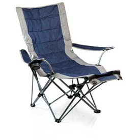 "Picnic Time Portable Lounger 794-00-138-000-0, 36""W X 63""D X 39""H, Navy"