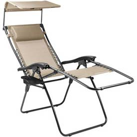 "Picnic Time Serenity Lounge Chair 805-00-189-000-0, 26""W X 5.75""D X 37""H, Two-toned Taupe"