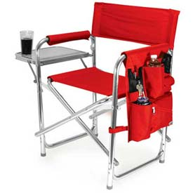 "Picnic Time Sports Chair 809-00-100-000-0, 19""W X 4.25""D X 33.25""H, Red"