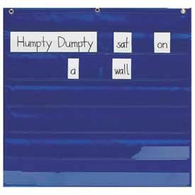 "Pacon® Mini Pocket Chart, 28"" x 28"", Blue"