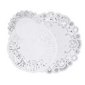 Pacon® Die-cut Paper Doilies, Assorted Sizes, White, 30 Doilies/Pack